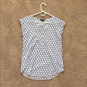 Express geometric design blouse